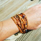 Wrap Bracelet for Women, Boho Wrap Bracelet, Amethyst Layering Bracelet