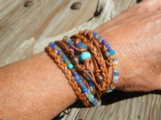 Wrap Bracelet for Women, Boho Wrap Bracelet, Turquoise Layering Bracelet